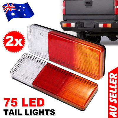 2X Led Trailer Lights Tail Lamp Stop Indicator 4Wd 4X4 Boat Submersible 12V Au
