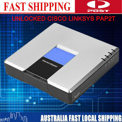 Durable 2-Port SIP Gateway Unlocked Linksys Cisco PAP2T Voip Phone Adapter New