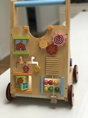 'I'm toy' wooden baby walker