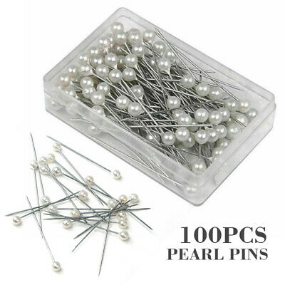 Pearl Pins 4mm Heads 1.5 Inch Florist Bouquet Corsage Dress Making Crafts