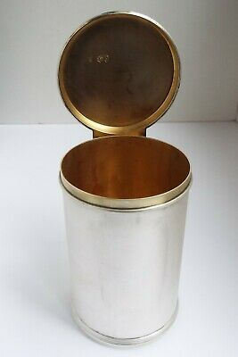 Superb Clean Heavy English Antique Victorian 1890 Sterling Silver Tea Caddy Box