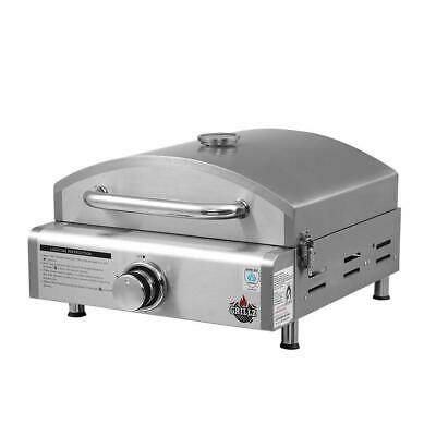 Grillz Portable Gas Oven Camping Cooking LPG Grill Pizza Stove Stainless Steel,