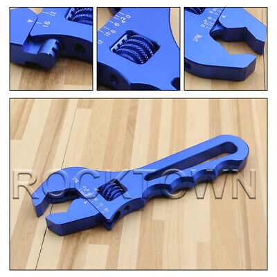 3AN-16AN Adjustable Spanner Aluminum Anodized Wrench Fitting Tools Blue