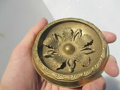 """Victorian Brass Furniture Hardware Mount French Antique Old Vintage Rococo 4""""W"""