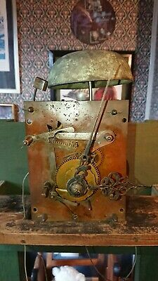 antique longcase grandfather clock movements spares or repairs
