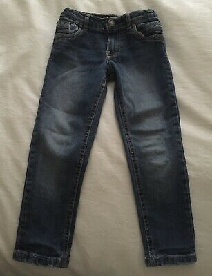 Boys 'Aston Martin' blue jeans. Aged 4 yrs. Pre Loved