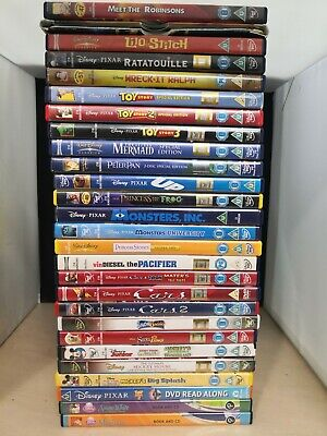 27 Disney DVDs Little Mermaid Peter Pan Up Monsters Inc Wall-E Toy Story #21C