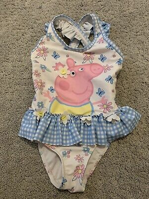 Girls Peppa Pig Swimming Costume 3-4 Years