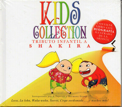 """Shakira """" Kids Collection """" Spanish Digipack CD With Book New Sealed/Digibook"""