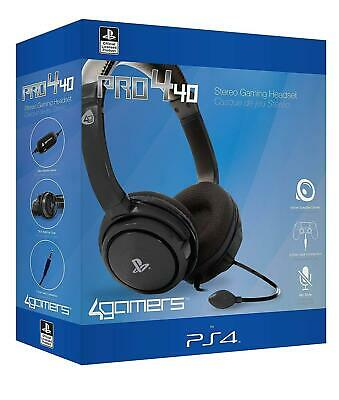 Official PRO4-40 Stereo Gaming Chat Headset with Mic BLACK PS4 New and Sealed