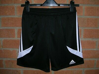ADIDAS Boys Black Climalite Sports Shorts Football Bottoms Age 11-12