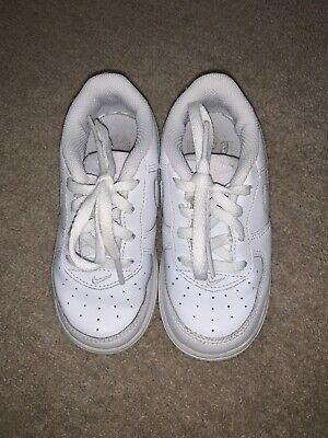 White air Force One NIKE junior Childrens Trainers