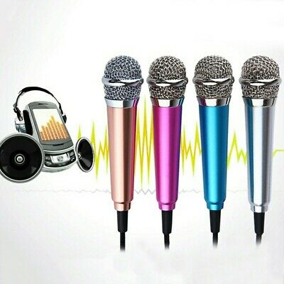 Mini Karaoke Condenser Wired 3.5mm Microphone Mic Mobile Phone For Android UK