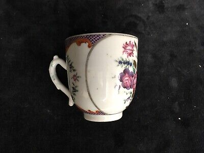 ANTIQUE CHINESE PORCELAIN FAMILLE ROSE TEA CUP QIANLONG QING dynasty
