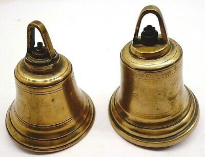 2 Antique Brass Electric Butler Bell Doorbell Door 1- Jensen 1- Unknown Vintage