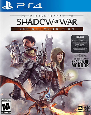 Middle-Earth: Shadow of War Definitive Edition (Sony Playstation 4, 2018)