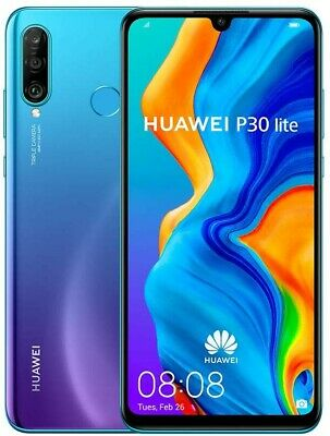 New HUAWEI P30 Lite Peacock Blue 128GB Dual Sim LTE Unlocked Warranty