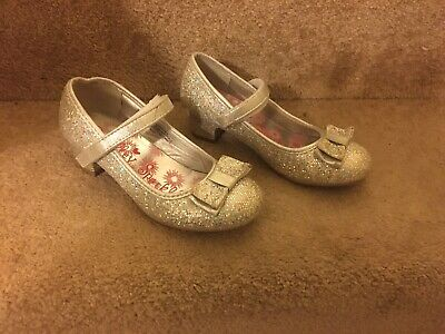 Lilley Sparkle girls Heeled Shoes Size 11 in silver