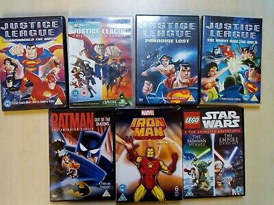 Joblot Of Children's DC Marvel Star wars Dvds