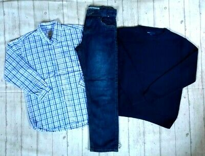 8 9 Years Designer Burberry Shirt Gap Jumper Jeans Boys Trendy Clothes Bundle