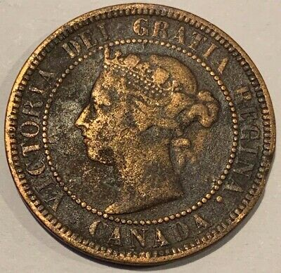 1888 Canada One Cent Queen Victoria Coin