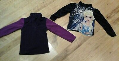 2 Girls Long Sleeve Warm Fleece Tops, Frozen & Mountain Warehouse 3-4 Years