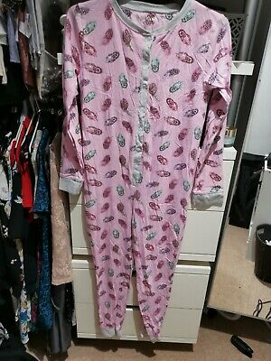 Girls Clothes Primark All In One Sleepsuit Nightwear Long Sleeve Age 13 Years