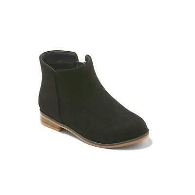 Cat & Jack Target Girl's Black Etoile Ankle Zipper Boots Size 9 NWT