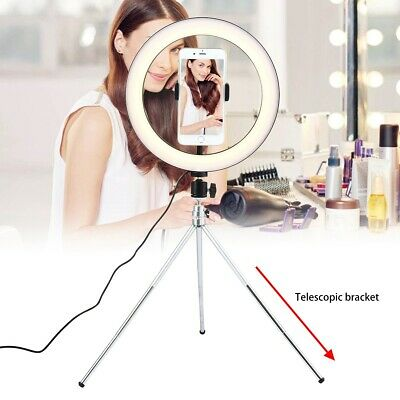 Large LED Ring Light Studio Photo Dimmable Lamp Tripod Stand Selfie Camera Phone