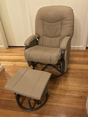 Mothers Nursing Breastfeeding Rocking Chair & Rocking Foot Stool (Ottoman)