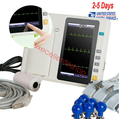 Portable ECG/EKG Machine Digital 3 Channel 12 lead Electrocardiograph,Touch, USA