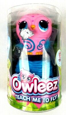 NEW-Owleez Flying Baby Owl Interactive Toy (Drone) with Lights & Sounds (Pink)