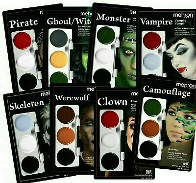 A855 Mehron Tri-Color Bruise Makeup Palette Professional Effects Costume Make Up