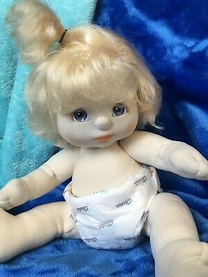 US Top Knot - New Condition ~ Blue Eyes ~ Blond ~ In Her ORIGINAL  Pampers!