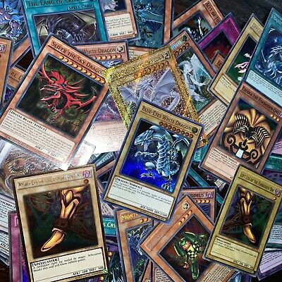 YUGIOH 50 CARD ALL HOLOGRAPHIC HOLO FOIL COLLECTION LOT! Exodia, Blue eyes, etc!