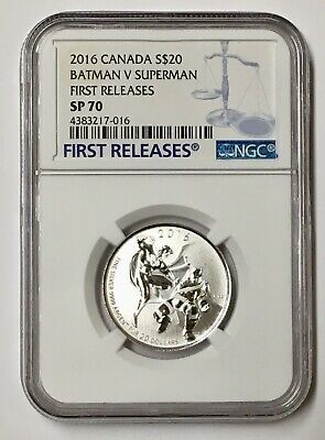 2016 Canada Batman V Superman S$20 - Ngc Sp70 First Releases