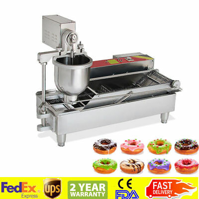 110V Stainless Steel Commercial Electric Automatic Doughnut Donut Machine 6KW