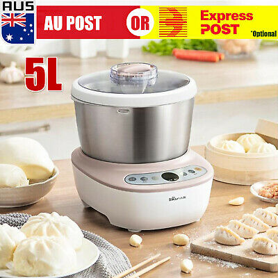 5L 200W Stainless Steel Automatic Electric Flour Dough Mixer Household Machine D