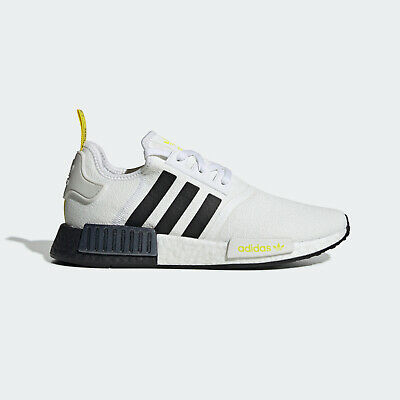 Adidas Originals NMD_R1 [FV2549] Men Casual Shoes White/Black-Bright Yellow