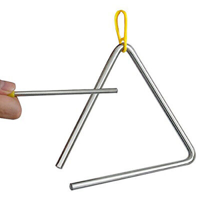 TRIXES Musical Triangle Steel School Percussion Instrument with Beater -