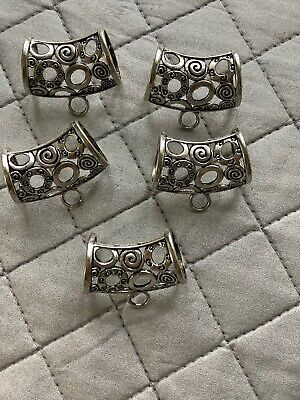 5 Blank Scarf Ring Sliders