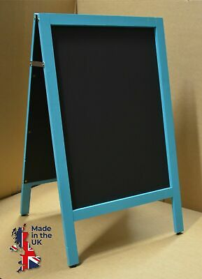 Beach Blue A-Board Chalkboard Blackboard Wooden Framed Pavement Cafe Pub Bar