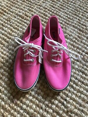 Keds girls raspberry pink sneakers shoes size UK 12 new With Tags