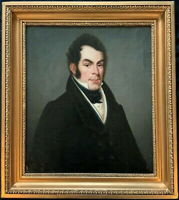 LARGE EXCEPTIONAL EARLY 1800's GEORGIAN OIL PORTRAIT PAINTING OF AN ARISTOCRAT