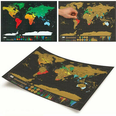 Gift Deluxe Scratch Off World Map Poster Log Giant Journal Map Of The World