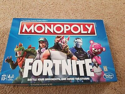Monopoly Fortnite Edition Board Game 100% Complete very good Condition