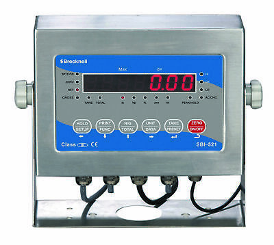 Brecknell SBI-521 LED Scale Stainless Indicator Display For Platform Bench Floor