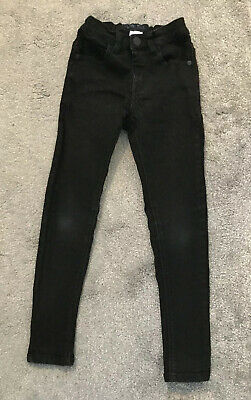 💙NEXT Boys Black Jeans Skinny Slim Fit Age 7 Years💙