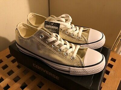 BNWT CONVERSE Gold Ladies Trainers Uk Size 6