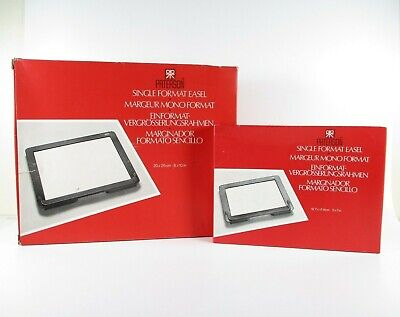 """2 Paterson Single Format Easel Printing Frames With Boxes 8X10"""" And 5X7"""""""